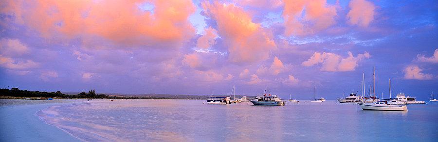 Yachts and boats on Geographe Bay, Dunsborough, South Western Australia