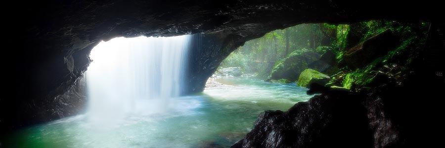 Waterfall, Natural Bridge, Springbrook National Park, Queensland, Australia