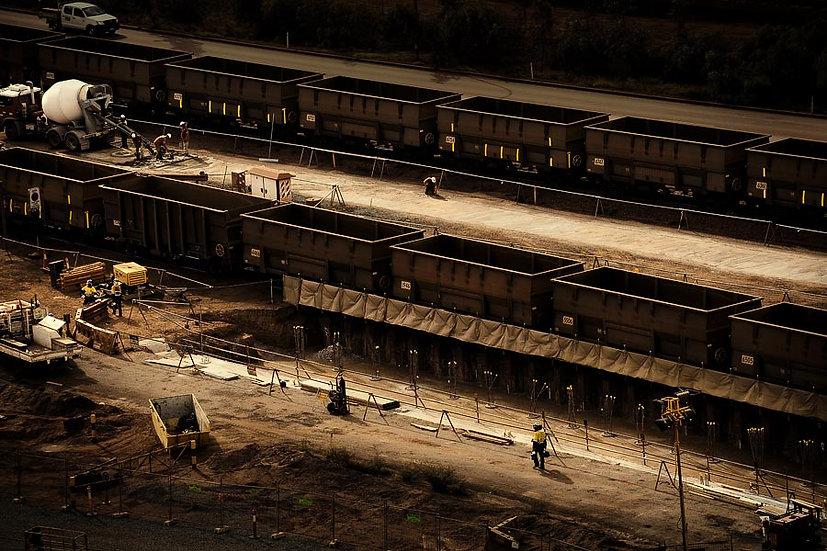 Rail Yard, Iron Ore Mining in the Pilbara, Port Hedland, North Western Australia
