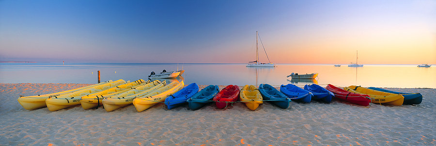 Kayaks and Yachts, Monkey Mia, North Western Australia