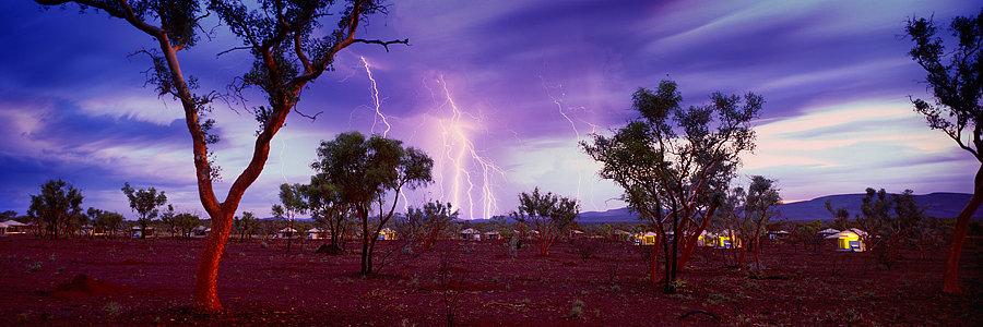 Lightning storm, Karijini National Park, Pilbara, North Western Australia
