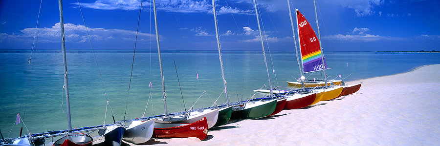 Catamarans, Geographe Bay beach, Dunsborough, South Western Australia