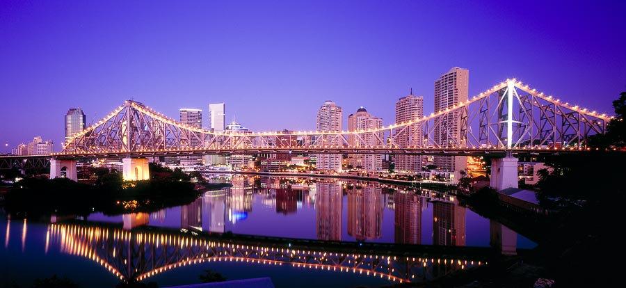 Story Bridge at night, Brisbane,Queensland, Australia
