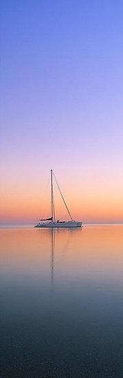 Catamaran Yacht at Sunset, Monkey Mia, North Western Australia
