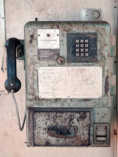Old public phone box