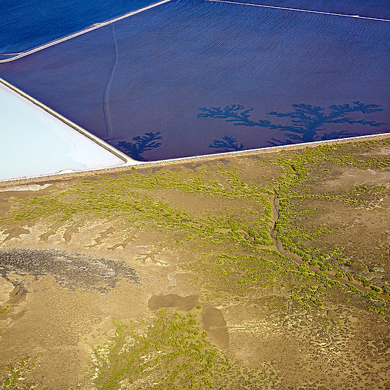 Salt ponds and inlets, Mining, Pilbara, North Western Australia