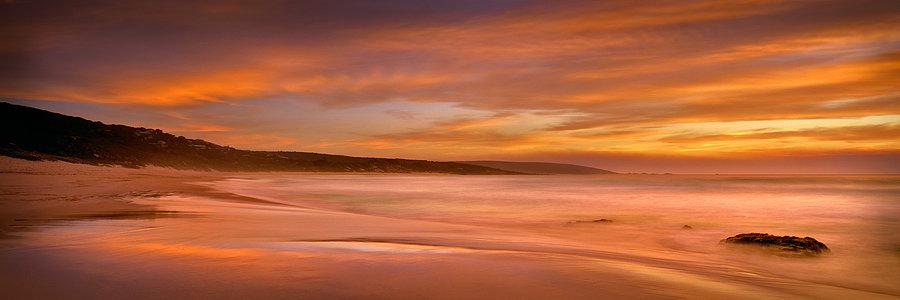 Orange Sunset, Yallingup Beach, South Western Australia