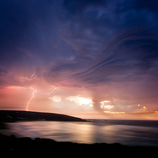 Lightning storm, Smith Beach, Yallingup, South Western Australia