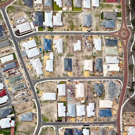 Busselton Suburbia Aerial, South Western Australia