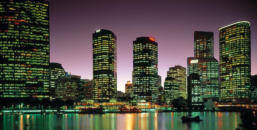 City Skyline, Brisbane, Queensland, Australia