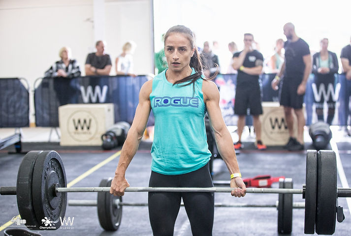 CrossFit Girl Lifting Weights