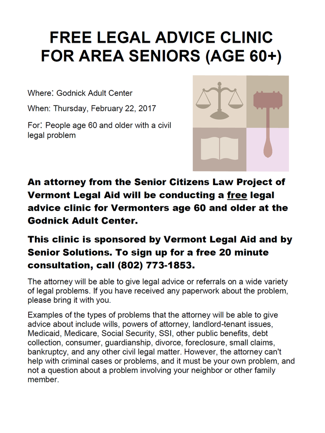 Free Legal Advice For Area Seniors