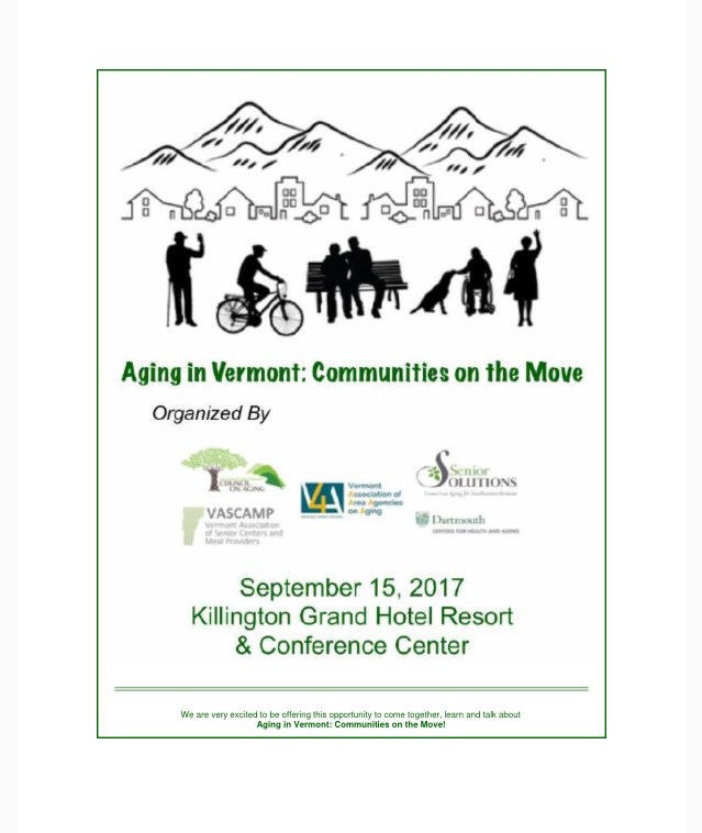 Aging in Vermont: Communities on the Move Conference September 15th