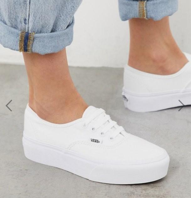 white vans plimsols