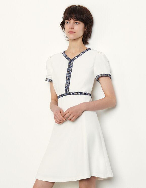 White tennis dress from Sandro