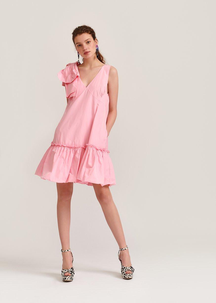 pink dress by essentiel antwerp