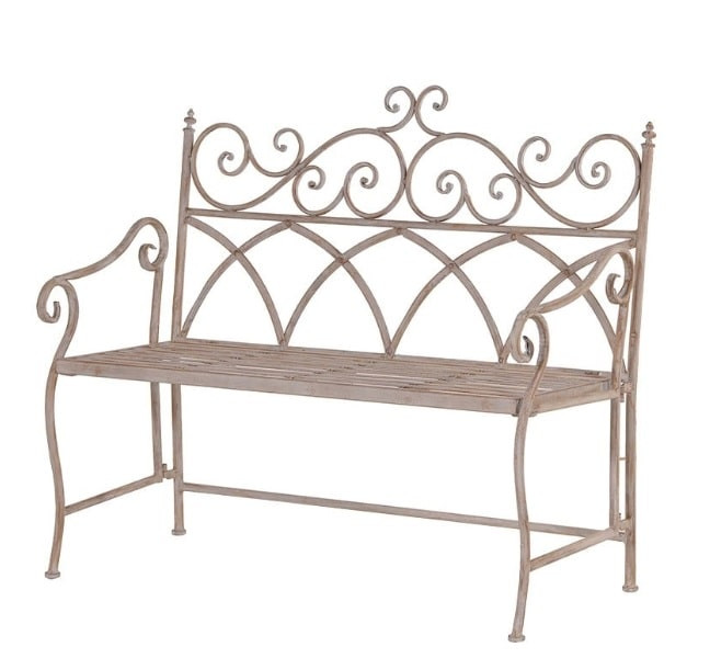 Metal french bistro bench