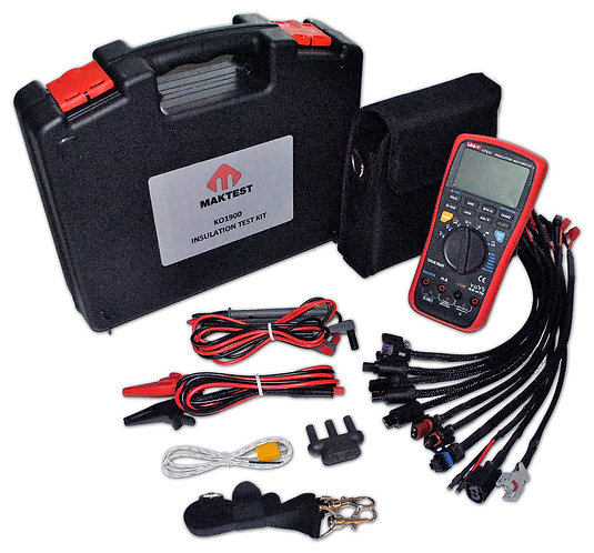 KO1900 Maktest Insulation Tester with all Cables