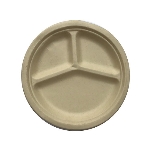 Round Compartment Plate