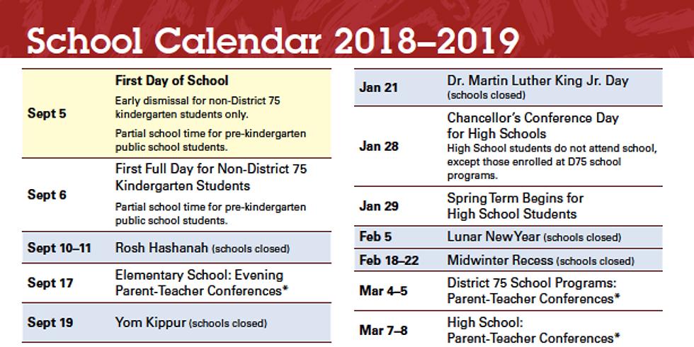 NYC DOE Calendar