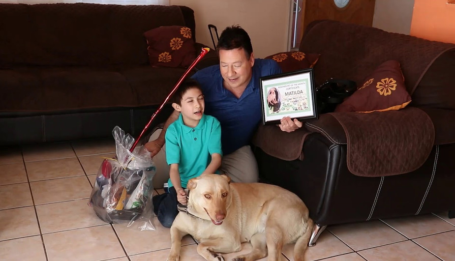 MATILDA FIRST PLACE WEATHER PET OF THE MONTH MARCH 2019