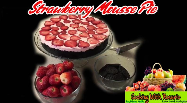 STRAWBERRY MOUSSE PIE.mp4