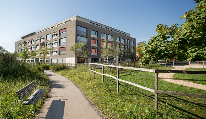 Architekturfotografie für  Engler Architekten Basel: Neues Alterszentrum für das Bürgerspital Basel