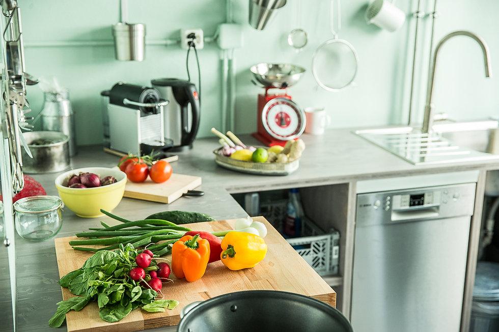 Fotostudio mit Studioküche für Food Shootings in Basel