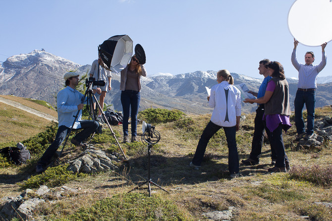 Making-of Helvetia Bildwelt Zermatt