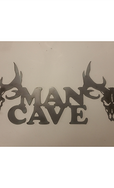 Deer Skulls Man Cave Sign