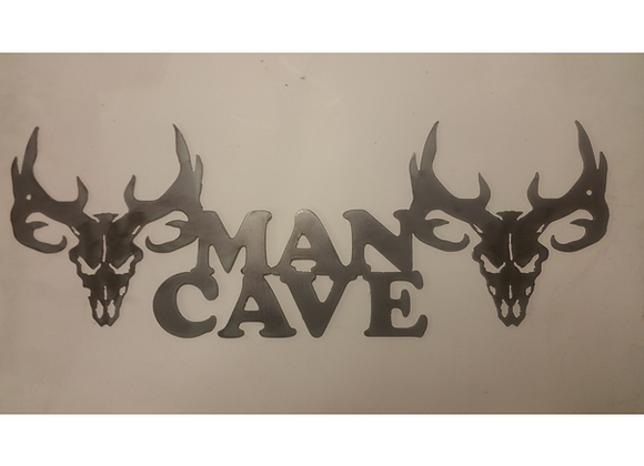 Deer Skulls Man Cave Sign