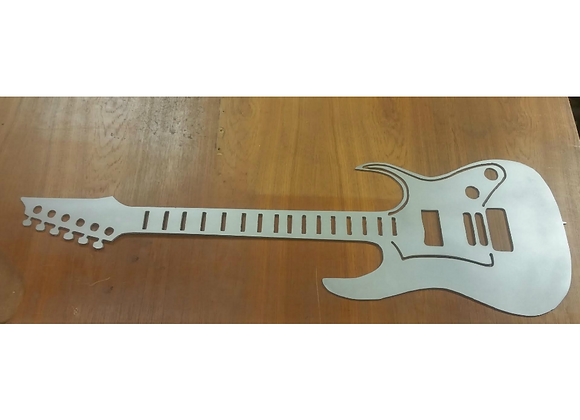 Electric Guitar Metal Sign