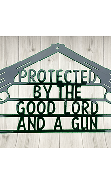 Good Lord and a Gun sign