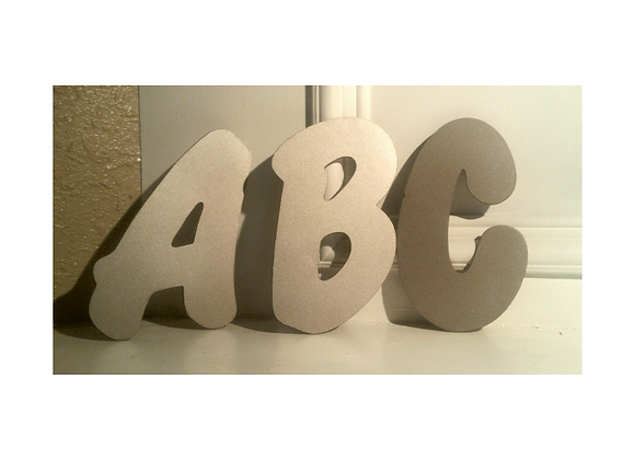 Metal Letters Thick Font