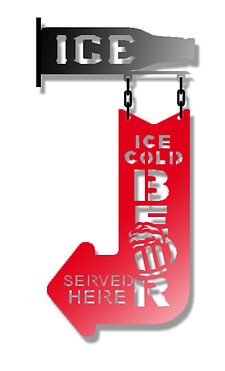 Ice Cold Beer Hanging Sign