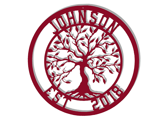 Tree of Life Monogram with Established Date