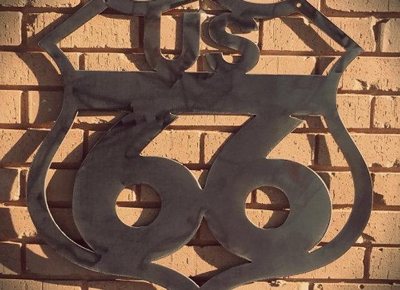 RT 66 Metal SIgn
