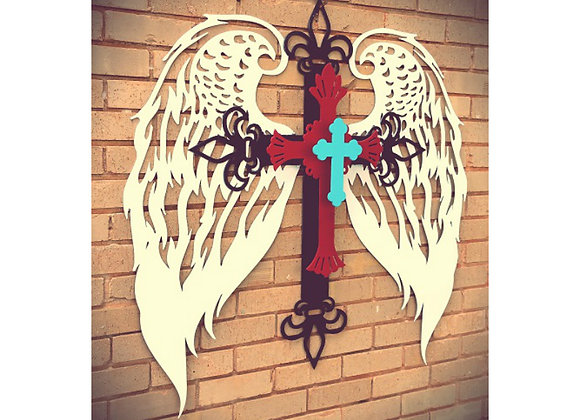 Wings and Crosses Wall Hanging