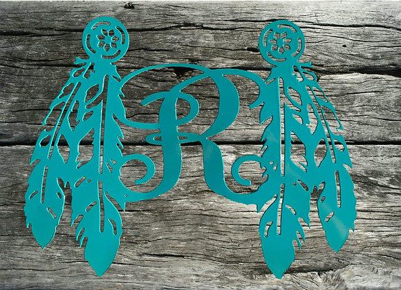 Double Feather Monogram