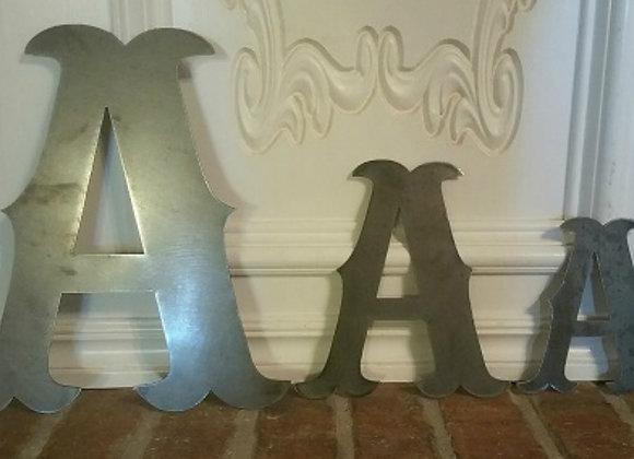 Metal Letters Western Font