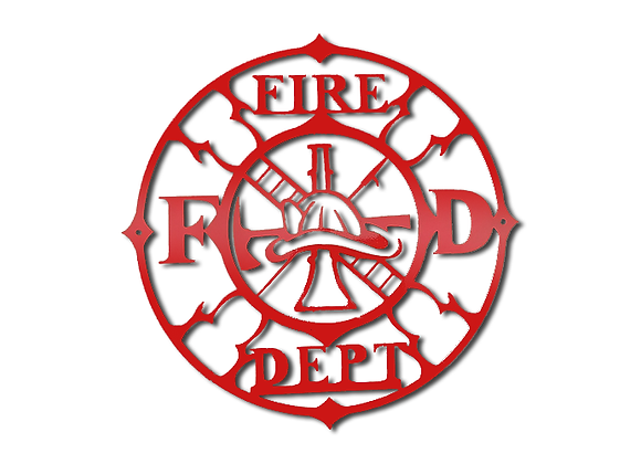 Round Firefighter Sign
