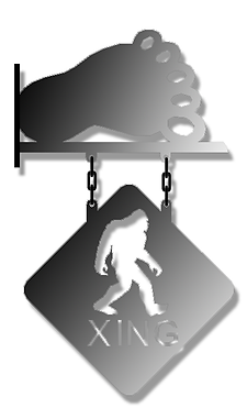 Big Foot Hanging Sign