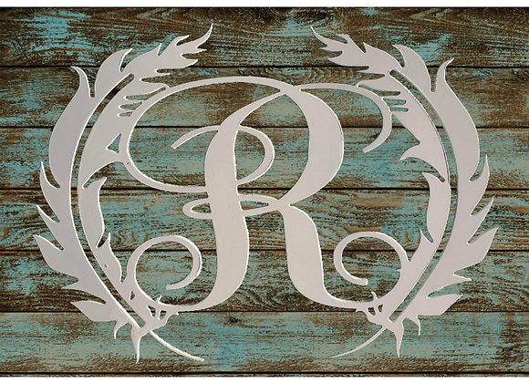 Feather Circle Monogram