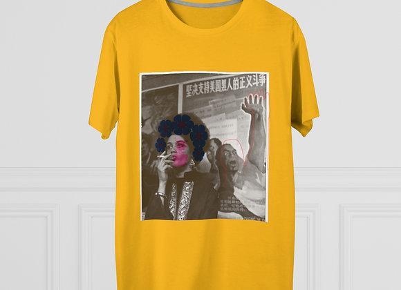 """""""Sunflower Angela Davis"""" Unisex Modern Tee"""