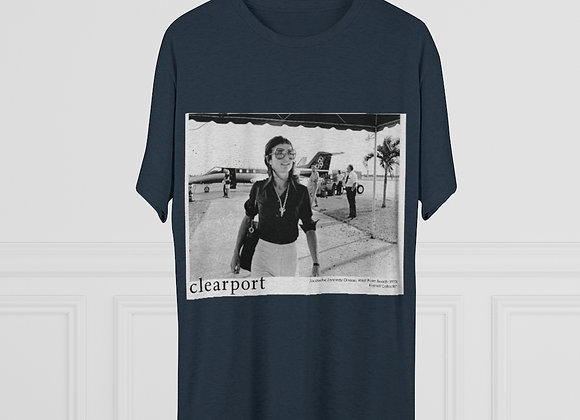 Jackie-O at the Clearport Unisex Triblend Tee