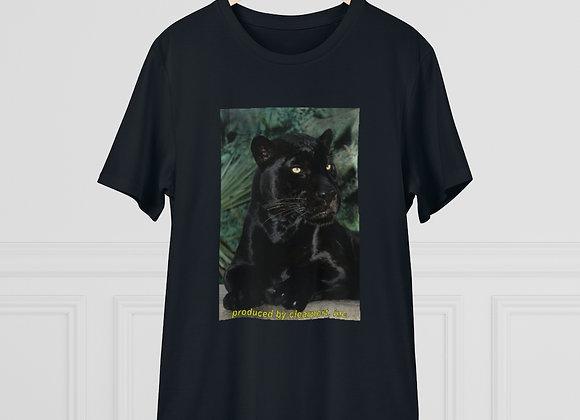"""Vintage Black Panther in the Wild"" Organic Creator T-shirt - Unisex"