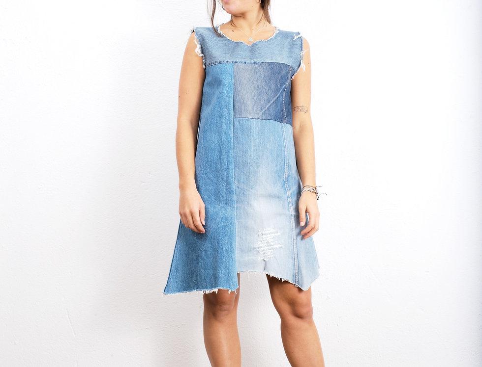 abito-vestito-denim-vintage
