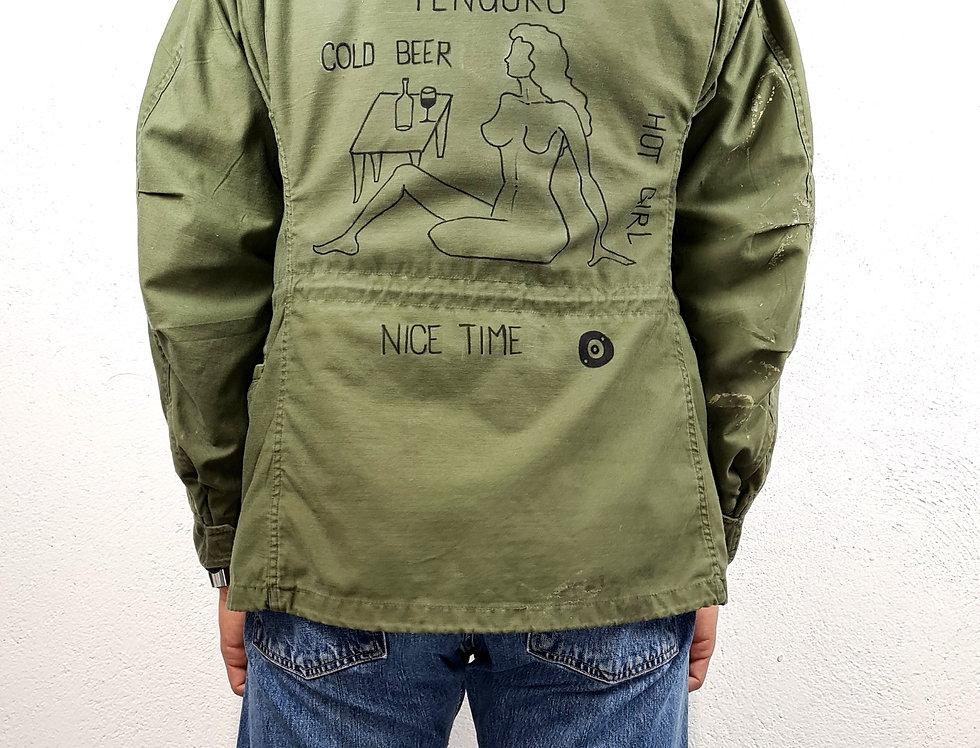 giacca-militare-vintage-dipinta-a-mano