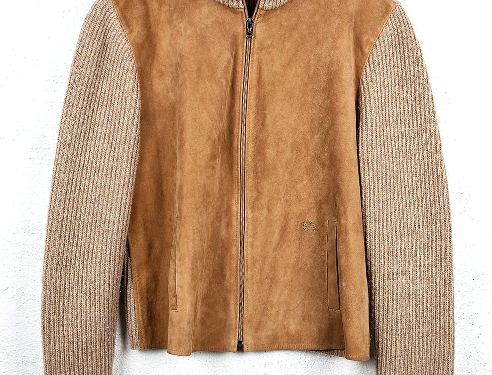 giacca-burberry-pelle-lana-cashmere-vintage