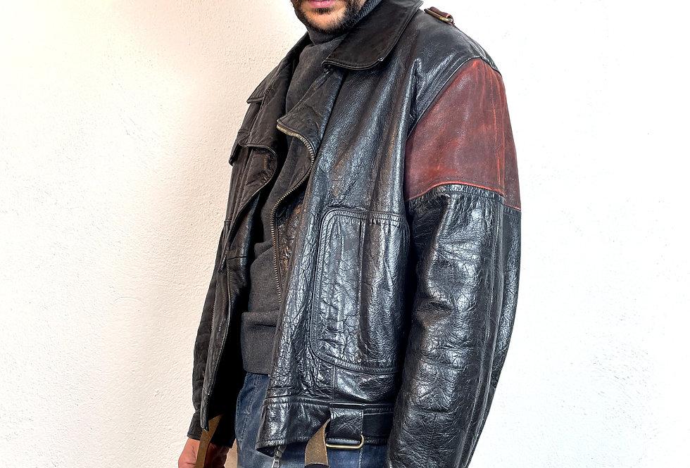 giacca-pelle-emporio-armani-vintage